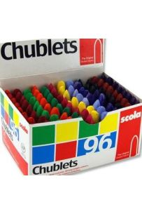 Scola Chublets - Box of 96 Colour assorted Crayons
