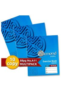 Ormond Pkt.10 88 pages A11 Exercise Books (Staplebound Paperback)(Pack of 10 Books)