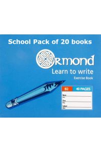 Ormond Learn To Write Copy Book (40pg, B2 size) (School Pack of 20 books)