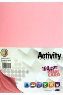 Premier Activity A4 160gsm Card 50 Sheets - Pink
