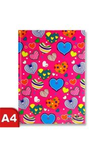 Premier A4 160pg Hardcover Notebook - Hearts