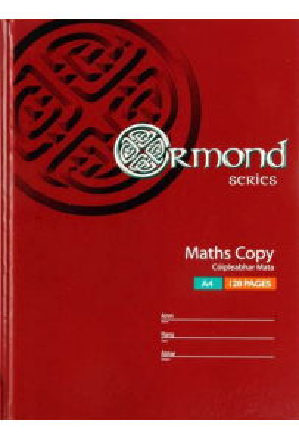 Ormond A4 128pg Hardcover Maths Copy Book