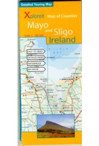 Xploreit Map of Counties Mayo and Sligo Ireland 1:100, 000
