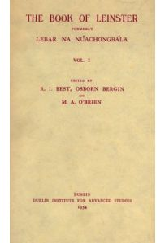 The Book of Leinster, formerly Lebar na Núachongbála (Vol. I)