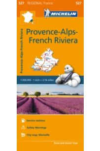 Provence- Alps - French Riviera - Michelin Regional Map 527 : Map