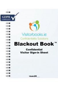GDPR Confidential Visitor Sign-in Book : Blackout Book (Price includes VAT)