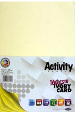 Premier Activity A4 160gsm Card 50 Sheets - Ivory