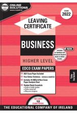 Edco Exam Papers: Business Higher Level (Leaving Cert 2022)