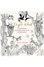 Tangle Wood (large format edition) : A Captivating Colouring Book with Hidden Jewels