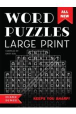 Word Puzzles Large Print (Black) : Word Play Twists and Challenges