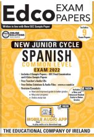 Edco Exam Papers: Spanish Common Level Papers (New Junior Cycle Exam 2022)
