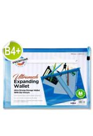 Premier Premtone B4+ Ultramesh Expanding Wallet - Printer Blue